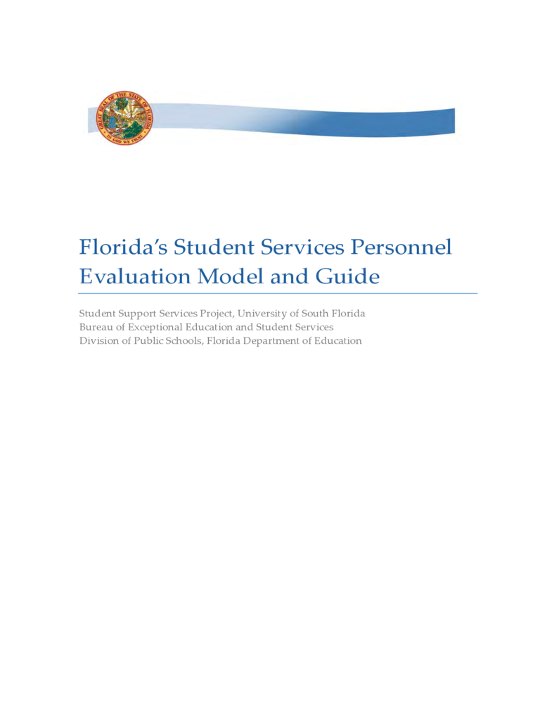 Student Services Personnel Evaluation Model and Guide - Florida