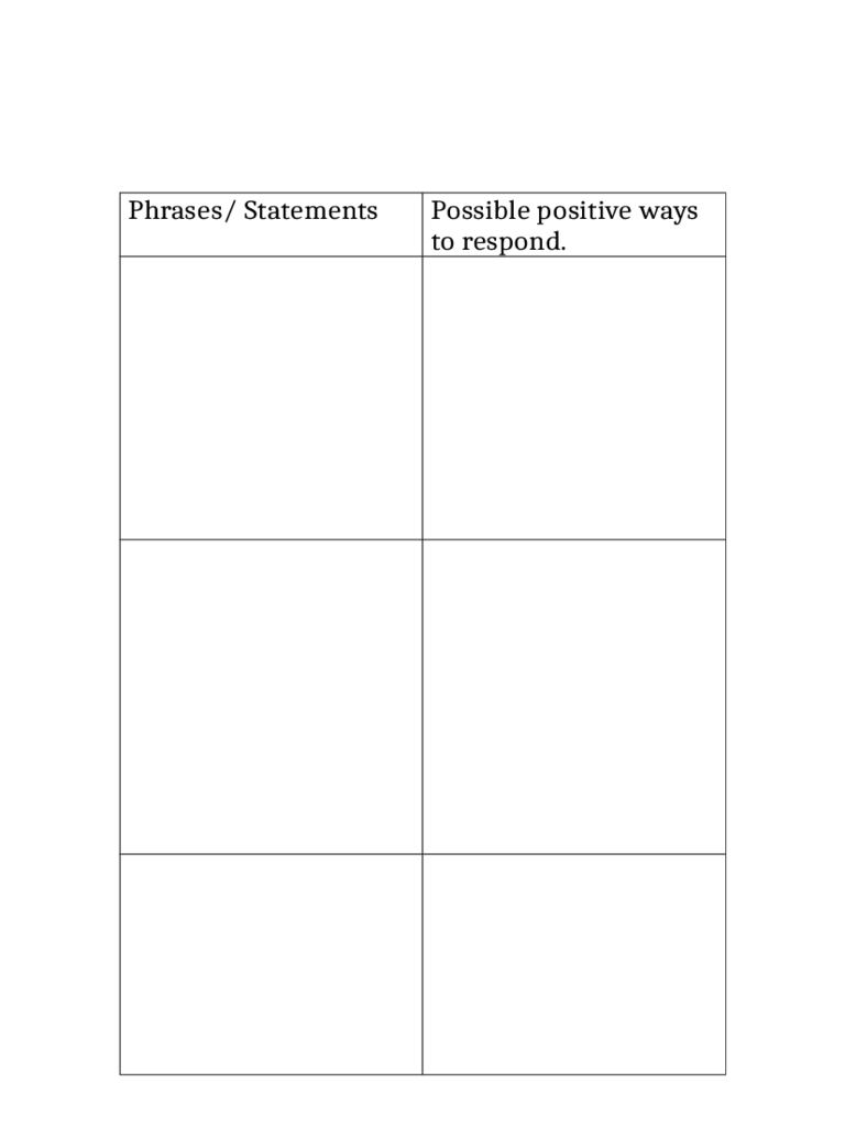 Doc464600 Printable T Chart Blank TChart Templates 81 – Blank Chart Template Free