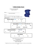 T-Shirt Order Template Free Download