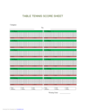 Table Tennis Score Sheet Template Free Download
