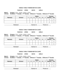 Table Tennis Match Card Free Download