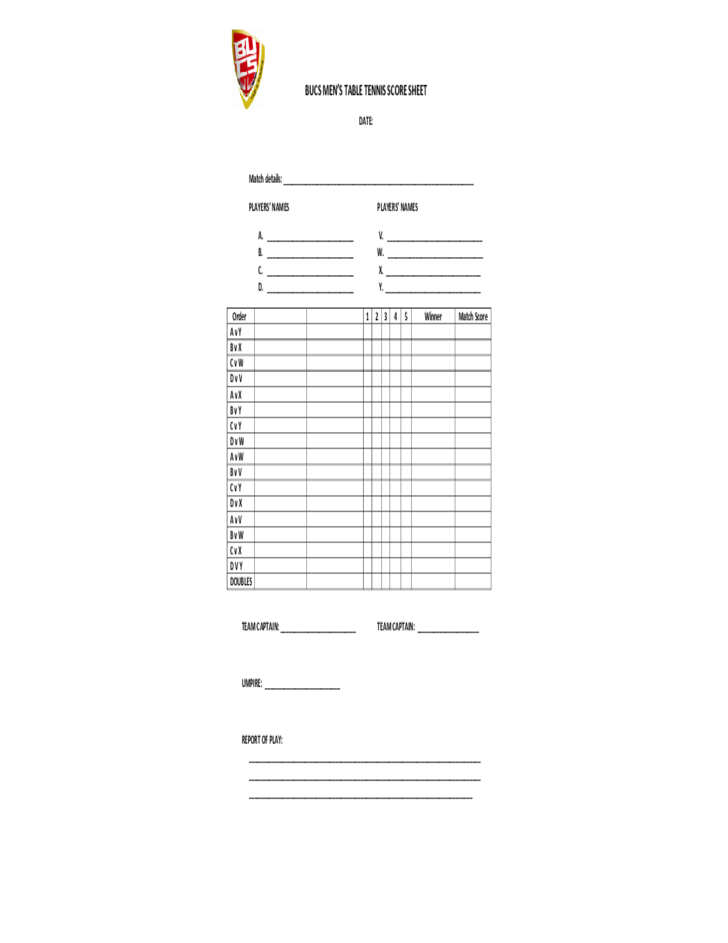 Sample Wrestling Score Sheet] Sample Wrestling Score Sheet 9 Free ...