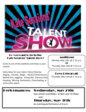 Talent Show Registration Forms 2013 FINAL Free Download