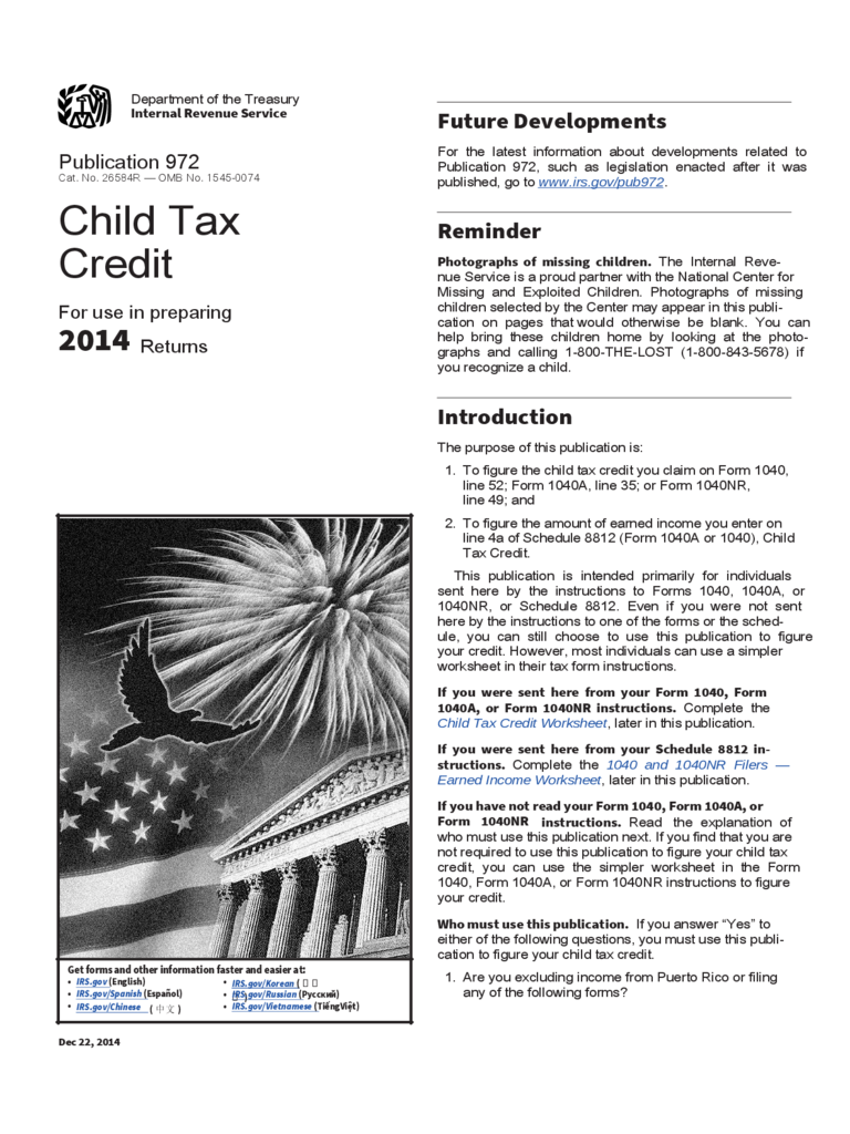Child Tax Credit Form