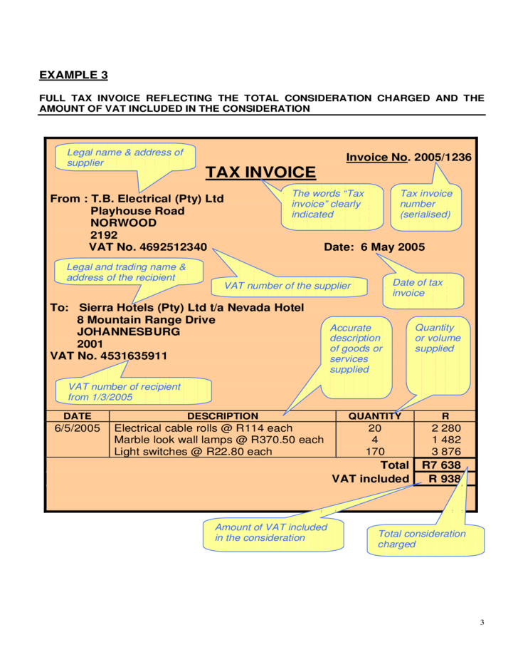 Examples Of Valid Tax Invoicetemplates Free Download