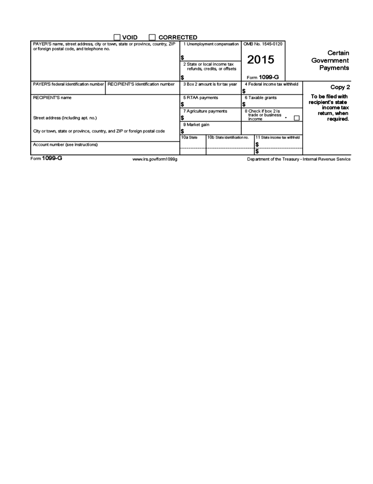Form 1099g Record Of Income Tax Refund Dinosauriensfo