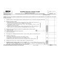 Form 8834 - Qualified Electric Vehicle Credit (2014)