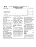 Form 8847 - Credit for Contributions to Selected Community Development Corporations (2012)
