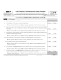 Form 8867 - Paid Preparer's Earned Income Credit Checklist (2014)