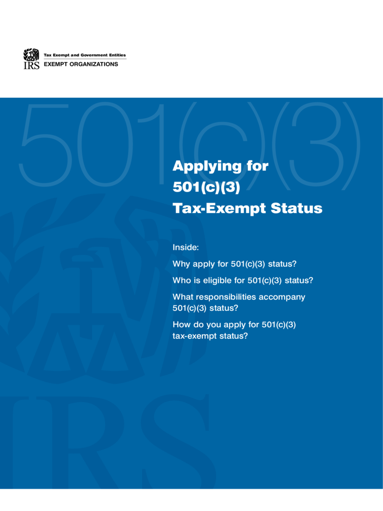 Applying for 501(c)(3) Tax-Exempt Status - United States