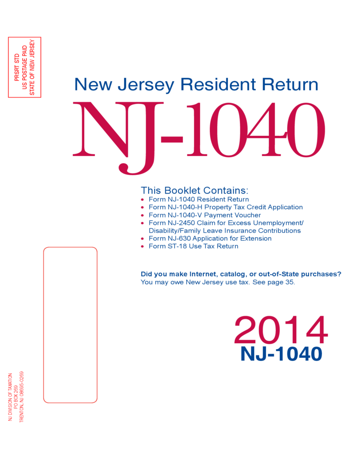 New Jersey Resident Return New Jersey Free Download