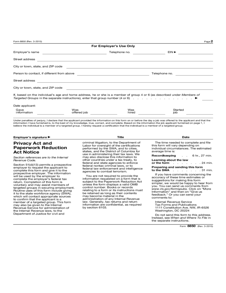 pre screening notice and certification request for the