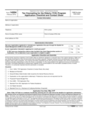 Tax Counseling for the Elderly (TCE) Program Application Checklist and Contact Sheet
