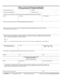 Form 211-A - State or Local Law Enforcement Application for Reimbursement (2012)