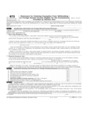 Form 673 - Statement for Claiming Exemption From Withholding on Income (2007)