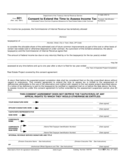 Form 921 - Consent to Extend the Time to Assess Income Tax (2001)