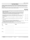 Form 12339-A - Tax Check Waiver (2012)
