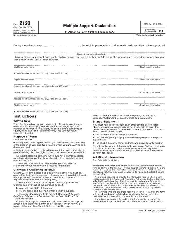 what is a tax declaration form