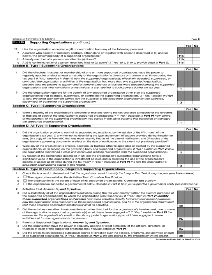 form 990 schedule b instructions