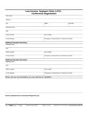 Form 13321 - Low-Income Tax Clinic (LITC) Conference Registration Form (2006)
