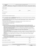 Form 12256 - Withdrawal of Request for Collection Due Process or Equivalent Hearing (2012)