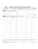 Form 5754 - Statement by Person(s) Receiving Gambling Winnings (2008)