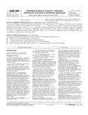 Form 5305-SEP - Simplified Employee Pension-Individual Retirement Accounts Contribution Agreement (2012)