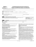Form W-13 - ExSTARS Reporting Information Request for Taxpayer Identification Number and Certification (2014)