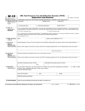 Form W-12 - IRS PTIN Application and Renewal(2015)