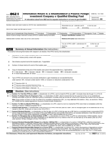 Form 8621 - Information Return by a Shareholder of a Passive Foreign Investment Company (2014)