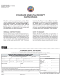 Sample Sales Tax Receipt Instructions - Colorado Free Download
