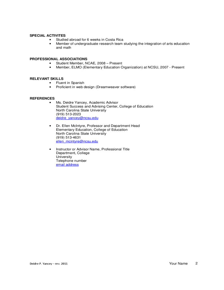 basic teacher resume sample free download