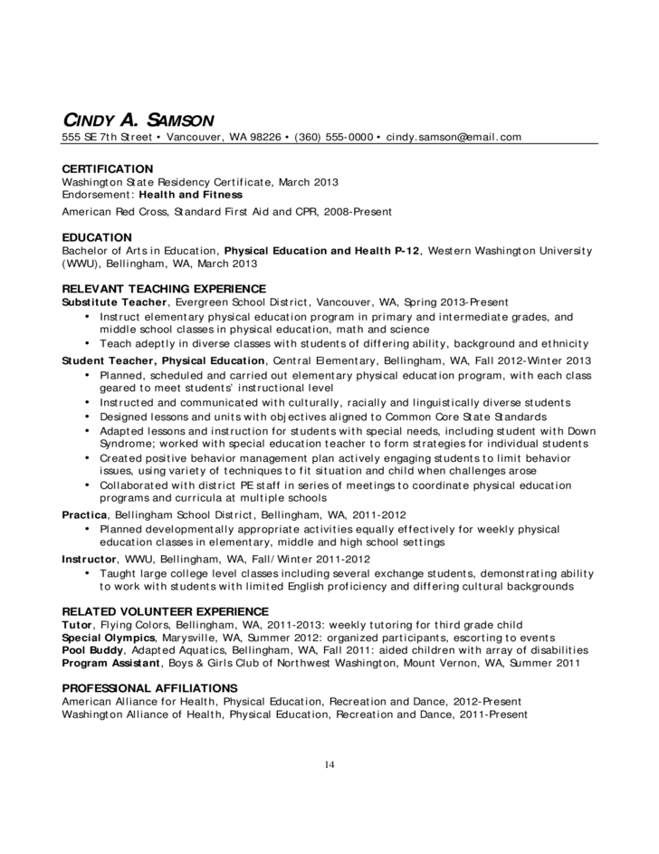 Resumes and Cover Letters for Educators Free Download