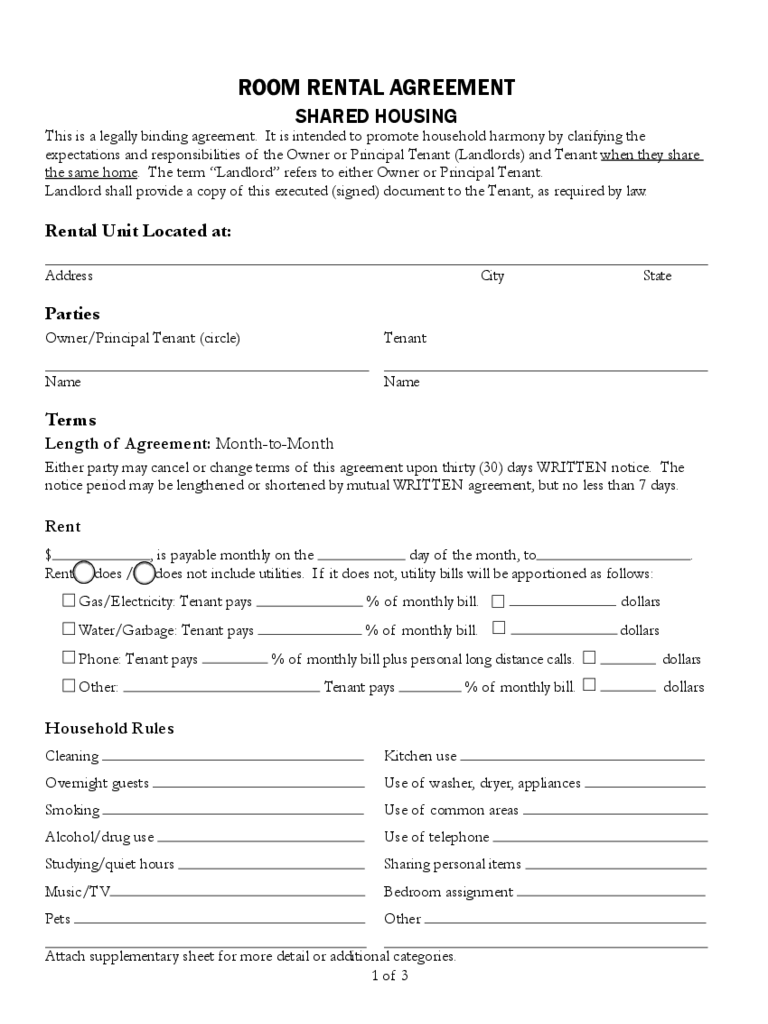 Tenancy Agreement Form 6 Free Templates In Pdf Word Excel Download