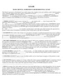 Tenant Lease Sample Form Free Download