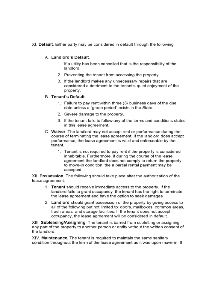 Oregon Residential Lease Agreement Free Download