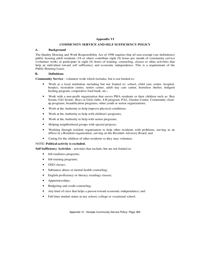 Sample resume for housing authority