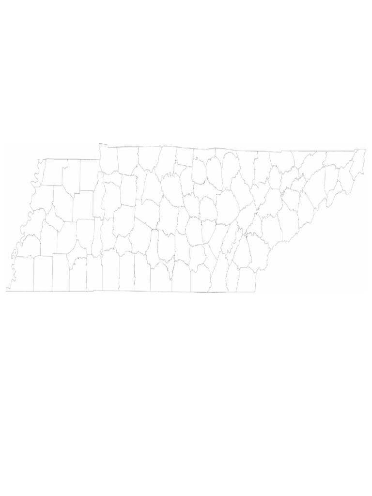 Blank Tennessee County Map