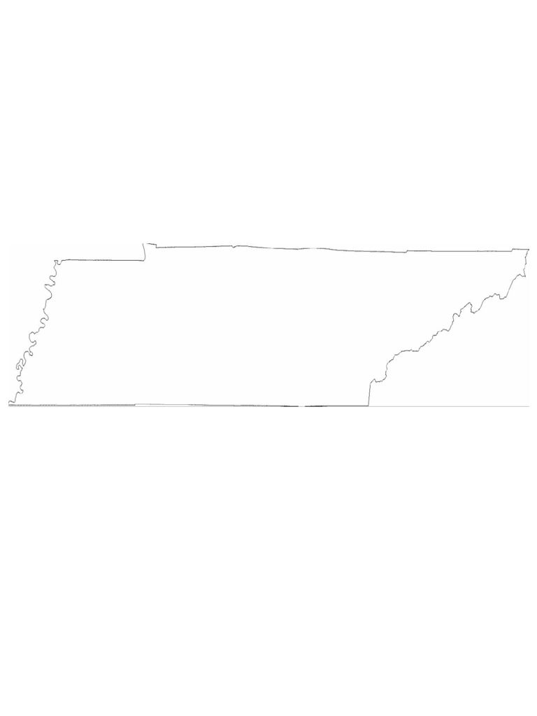 Tennessee State Outline Map