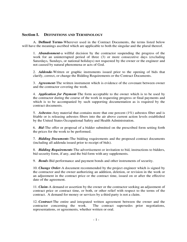 sample general terms and conditions free download