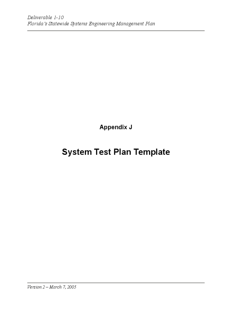 System Test Plan Template