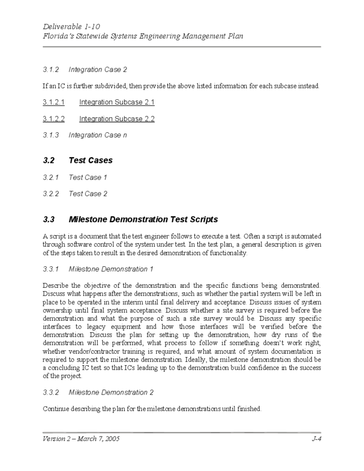 system test plan template free download