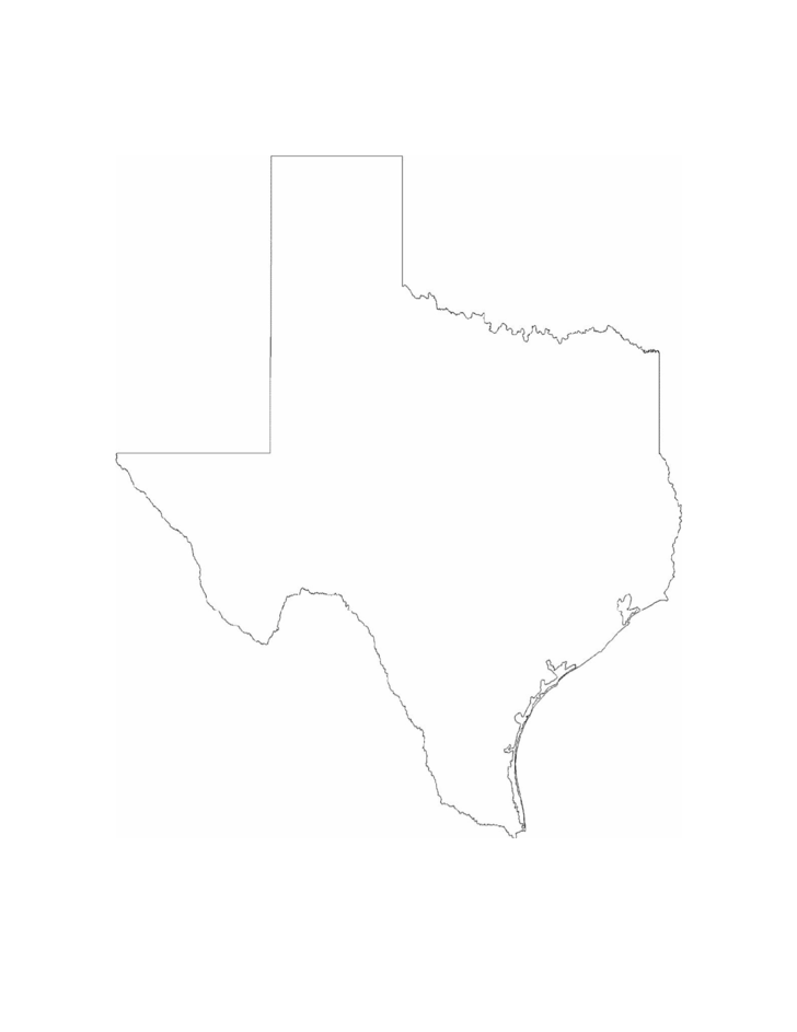 Texas State Outline Map