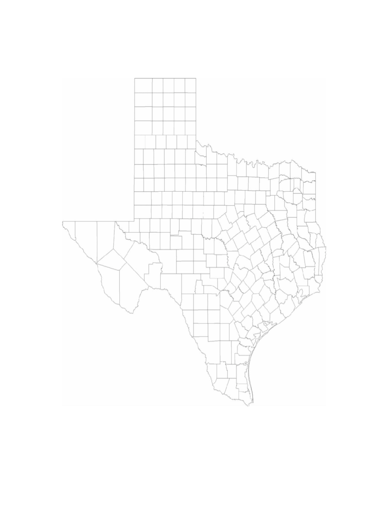 texas map template