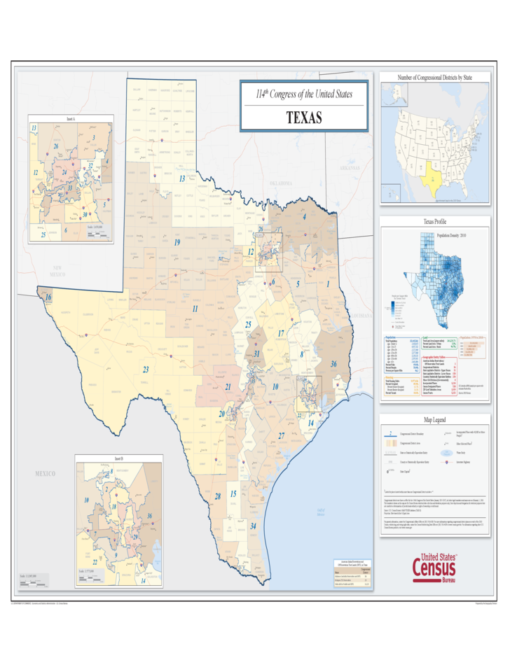 Texas Congressional District Map Free Download