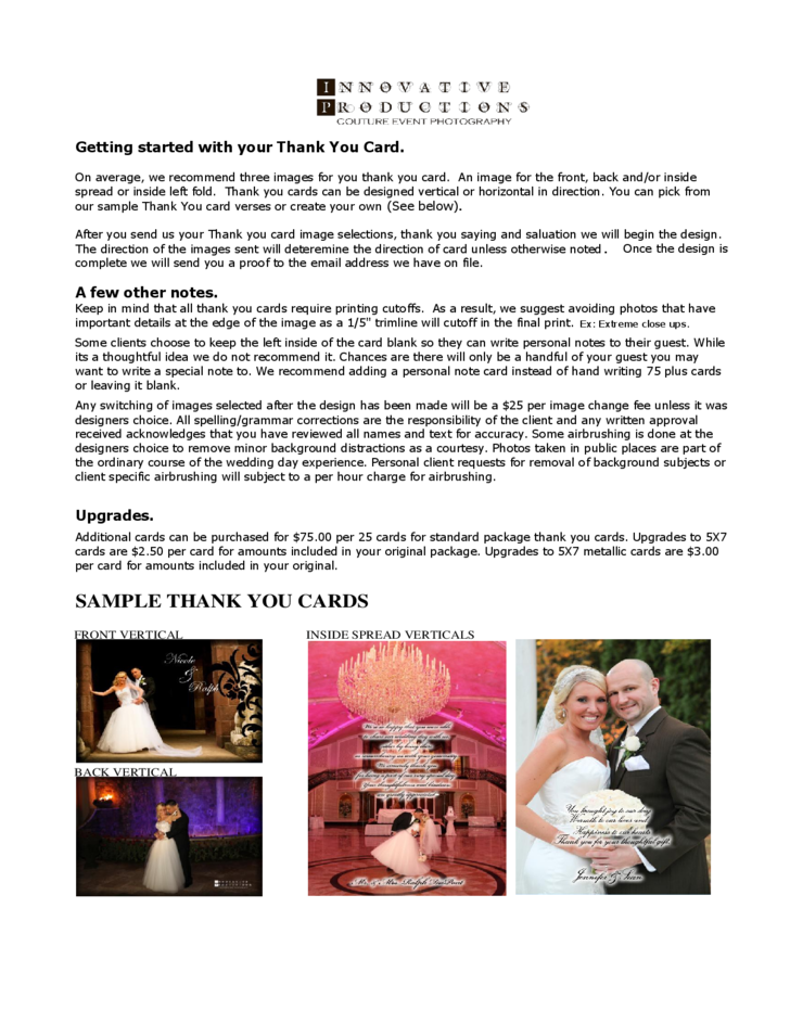 Wedding Thank You Card Samples Free Download