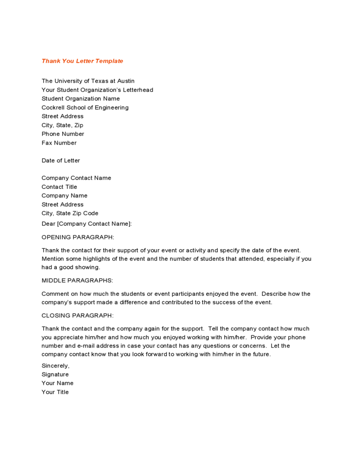 Sample Thank You Letters for Gifts Download