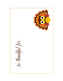 Cute Thanksgiving Cards Free Download