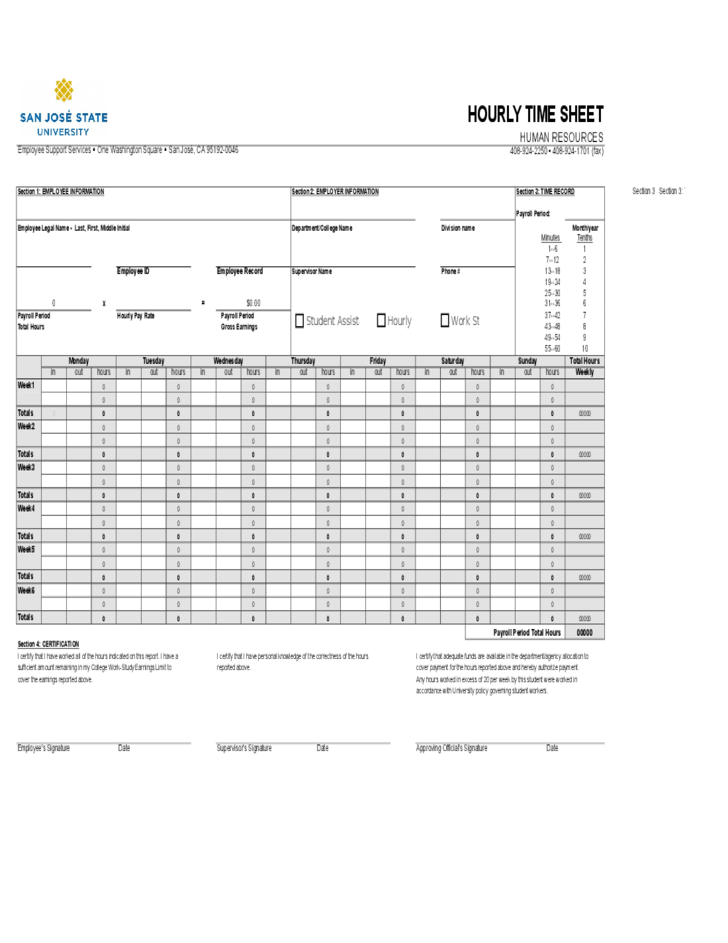 Hourly Time Sheet Calculator Free Download