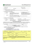 Blank Time Off Request Form Free Download